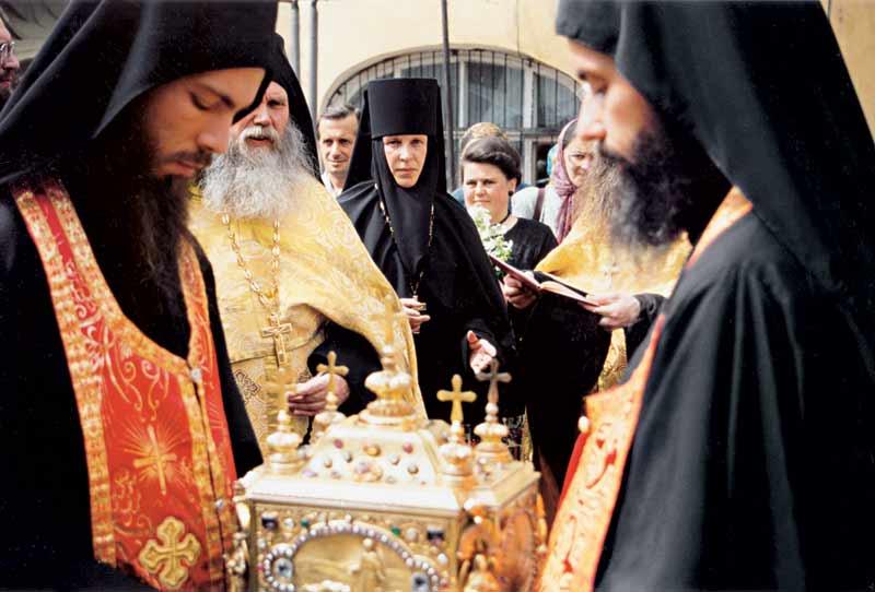 Встреча св. мощей великомученика и целителя Пантелеимона. 30 июля 2000 г.