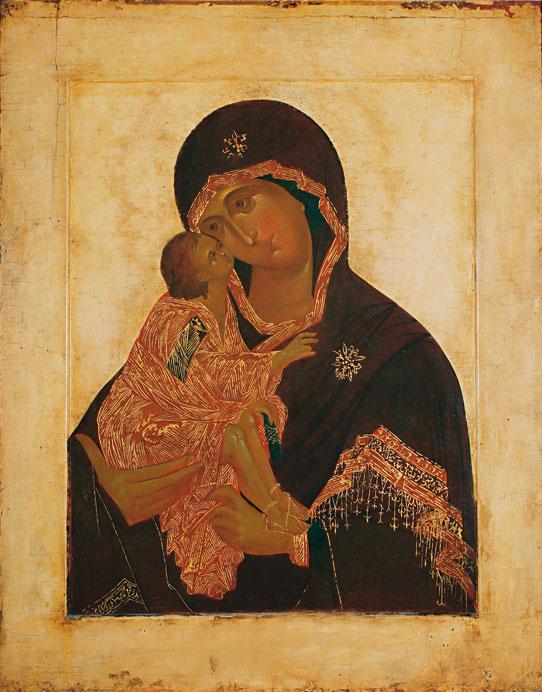 Донская икона Пресвятой Богородицы. Иконостас собора монастыря.