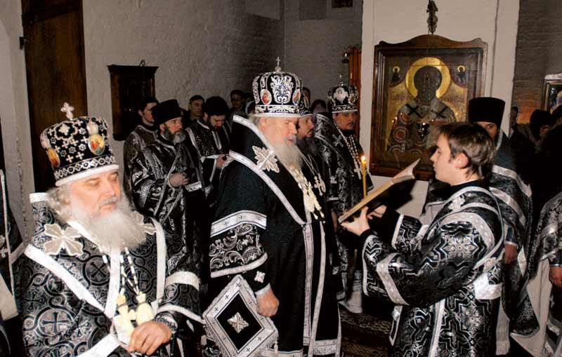День рождения Святейшего Патриарха Алексия II в нашей обители. 23 февраля 2007 г.