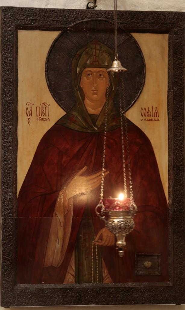 Икона преподобной Софии Суздальской с частицей мощей святой. Фото В. Ходаков