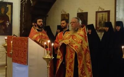 Посетивший нашу обитель архимандрит Илия (Раго) помолился о Предстоятеле Русской Церкви в день его тезоименитства