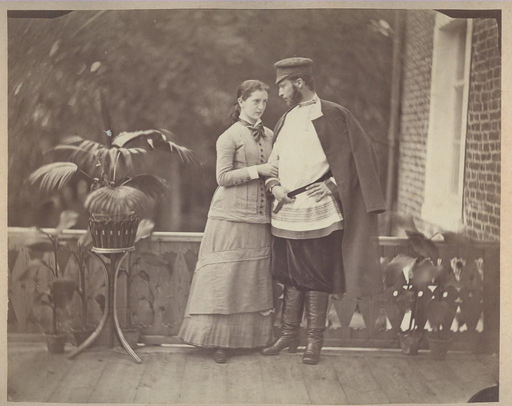 Граф Александр Александрович и Софья Николаевна Эйлеры в день свадьбы. Усадьба Федоровское, 1880 г.