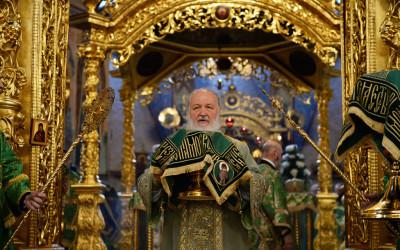 В день памяти прп. Сергия Радонежского Святейший Патриарх КИРИЛЛ возглавил Литургию в Троице-Сергиевой лавре