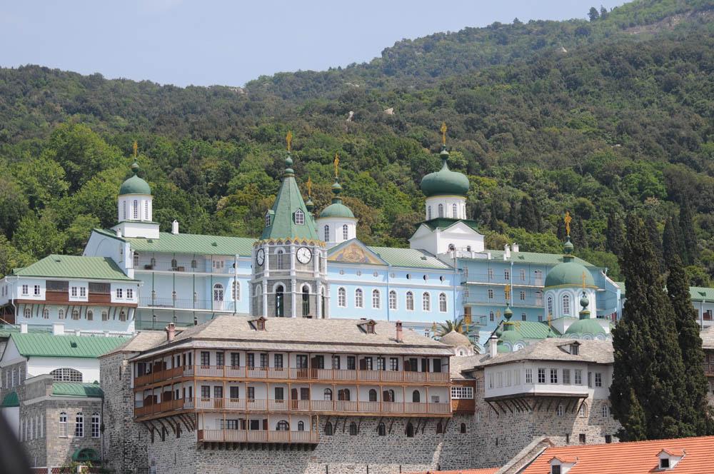 Свято_Пантелеимонов русский монастырь на Святой Горе Афон.