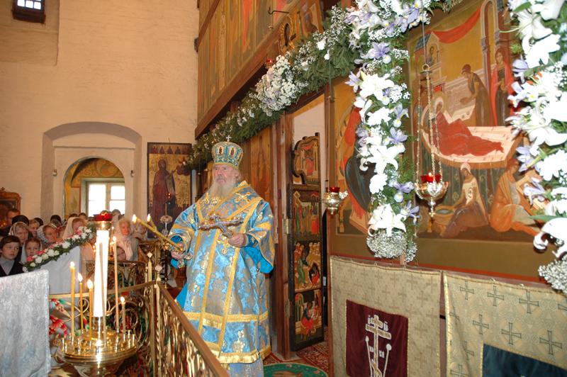 Патриаршее богослужение в монастыре. 25 сентября 2005 г.