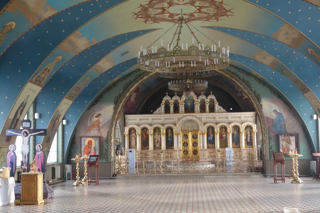 Интерьер храма Казанской иконы Божией Матери