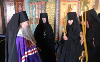 Епископ Алексий совершил монашеские постриги трех сестер нашей обители