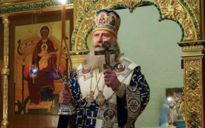 Архиепископ Феогност возглавил ночную Литургию в нашей обители