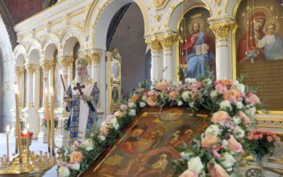 Председатель Синодального отдела по монастырям и монашеству возглавил богослужение в день престольного праздника нашей обители