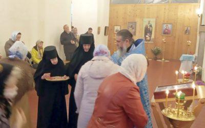 На подворье монастыря состоялось праздничное богослужение