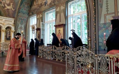 Накануне празднования перенесения мощей свв. страстотрепцев блгвв. князей Бориса и Глеба в обители состоялось всенощное бдение