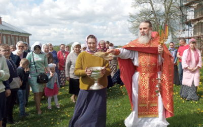 В Неделю жен-мироносиц на подворье обители состоялось воскресное богослужение