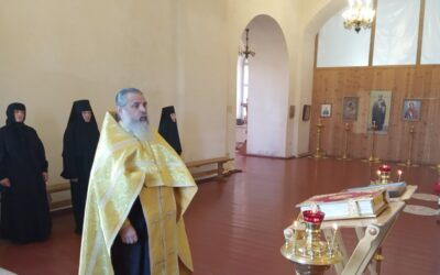 На подворье монастыря отслужено всенощное бдение